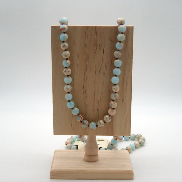 Shoushan Gemstone Bead Necklace Necklace - Favored Whispers