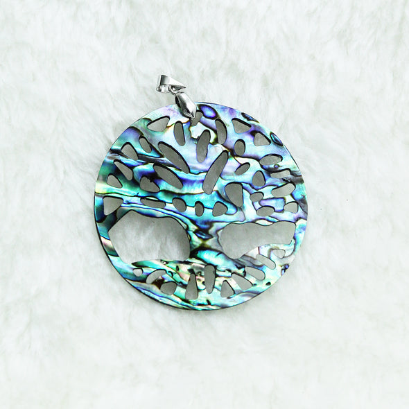 Tree of Life Abalone Pendant Pendant - Favored Whispers