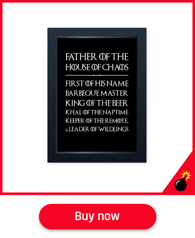 game of thrones wall art fathers day gift