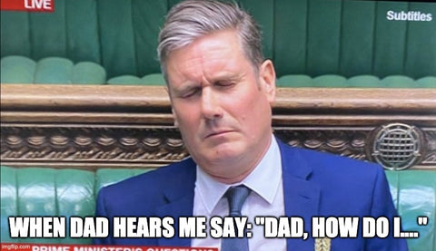 keir starmer Father's Day meme