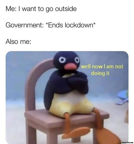 End of lockdown meme June 21st
