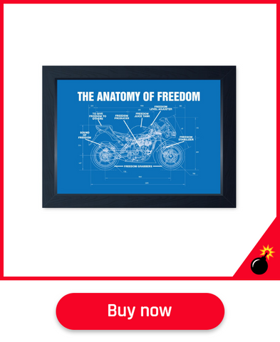 motorbike wall art for men dads fathers day gift