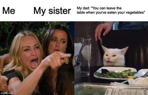 eat your greens Father's Day meme