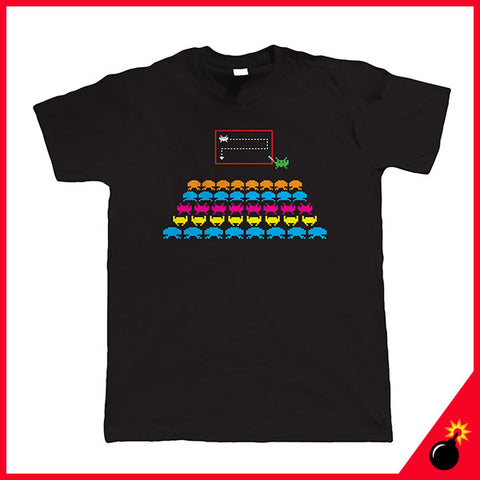 Space invaders t shirt gift for him gamer gift