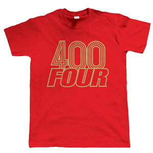 400 Four Mens Classic Biker T-Shirt | Motorbike Scooter Street Cafe Racer Rider Sidecar | Engine Cycle Chopper Triumph Throttle Lifestyle | Motorbikes Gift Him Dad