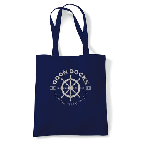 Good Docks Goonies Movie Inspired Tote | Reusable Shopping Cotton Canvas Long Handled Natural Shopper Eco-Friendly