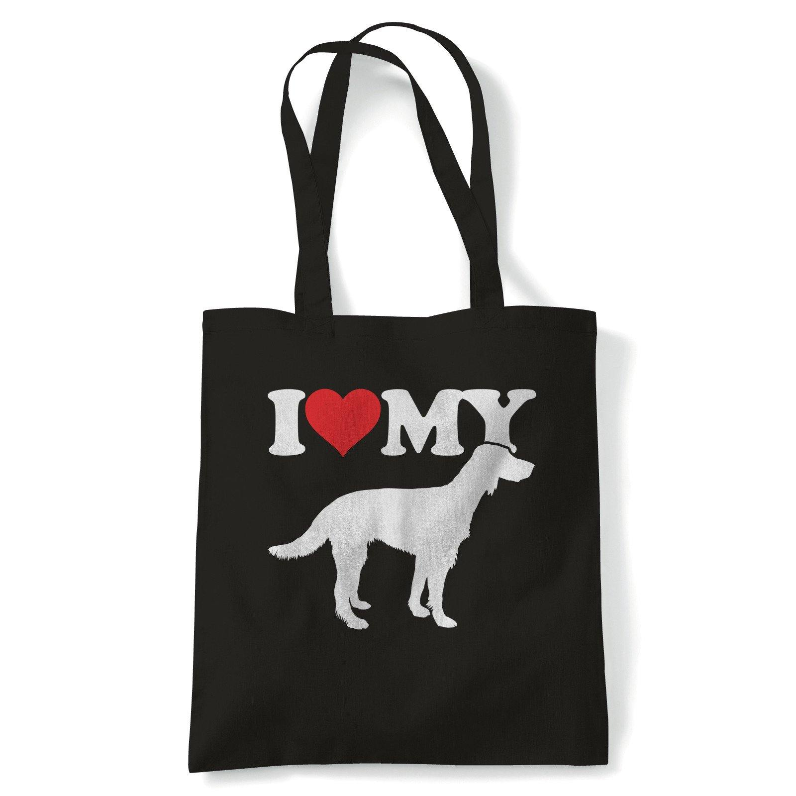 I Love My Irish Red Setter Tote | Dog Gift Fur Baby Lover Owner Mans Best Friend | Reusable Shopping Cotton Canvas Long Handled Natural Shopper Eco-Friendly Fashion