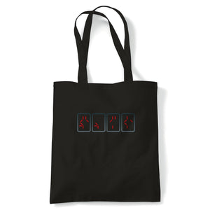 Predator Countdown Movie Inspired Tote | Reusable Shopping Cotton Canvas Long Handled Natural Shopper Eco-Friendly Fashion