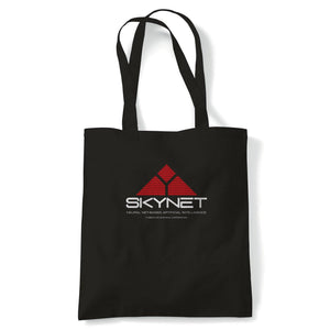Skynet Terminator Movie Inspired Tote | Reusable Shopping Cotton Canvas Long Handled Natural Shopper Eco-Friendly Fashion