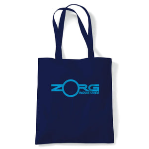 Zorg Industries Fifth Element Movie Inspired Tote | Reusable Shopping Cotton Canvas Long Handled Natural Shopper Eco-Friendly Fashion