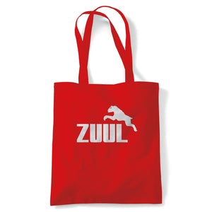 Zuul Ghostbusters Movie Inspired Tote | Reusable Shopping Cotton Canvas Long Handled Natural Shopper Eco-Friendly Fashion