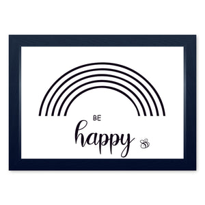 Blank Rainbow Outline for Colouring, Quality Framed Print - Home Activities Art