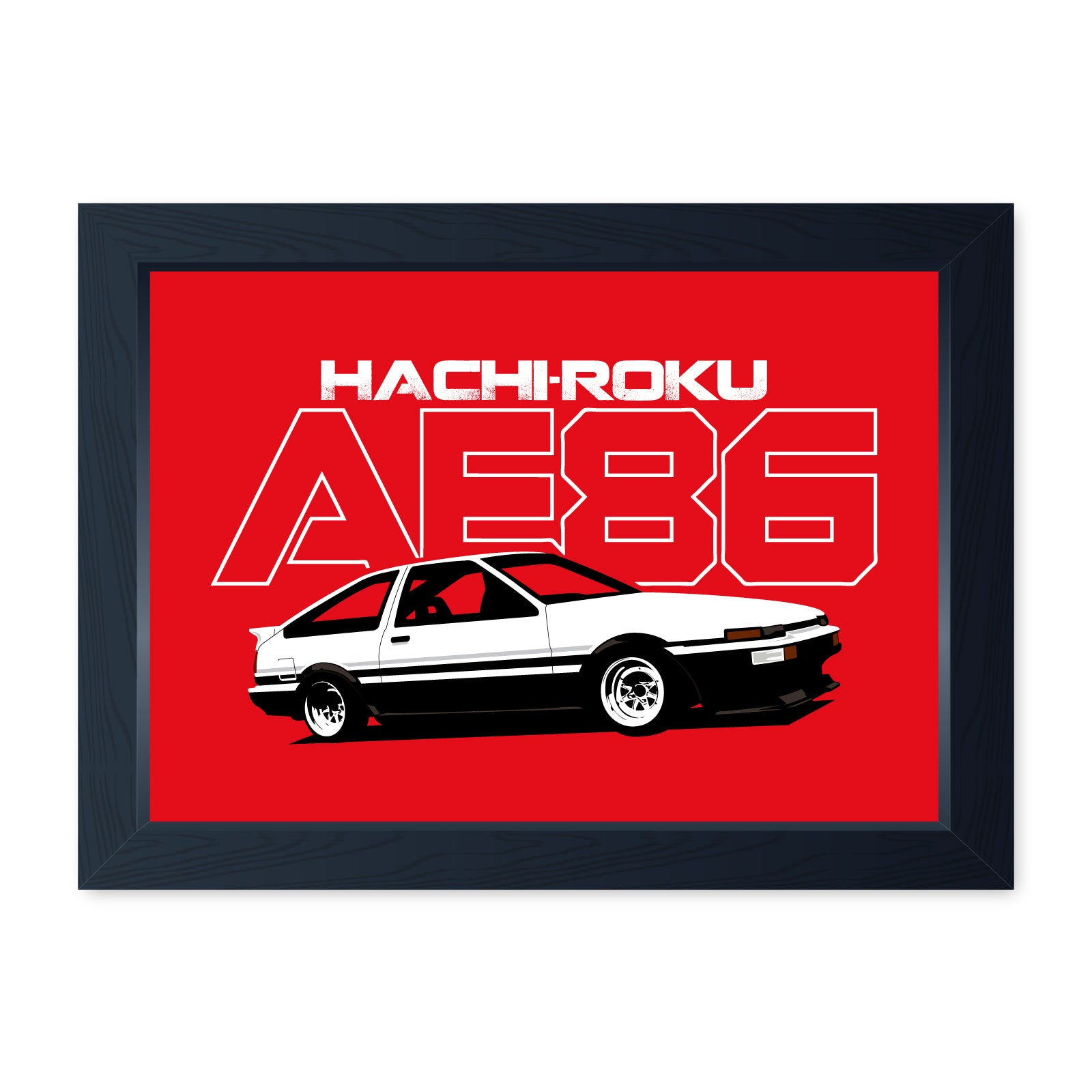 AE86 Hachiroku JDM, Quality Framed Print - Home Decor Kitchen Bathroom Man Cave Wall Art