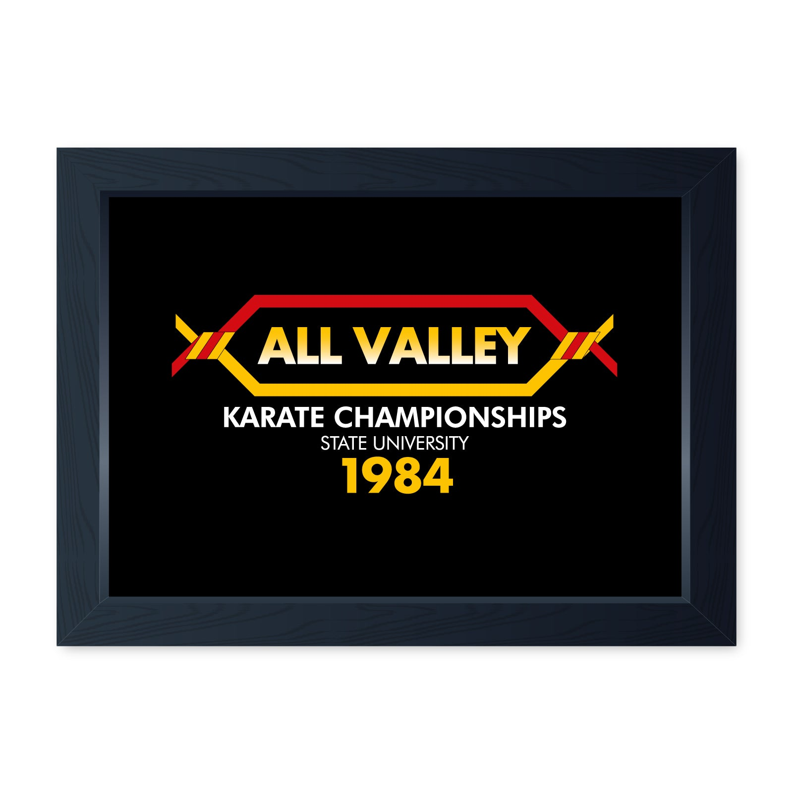 All Valley Karate Championships, Movie Inspired Quality Framed Print - Cinema Room Man Cave Art Wall Art