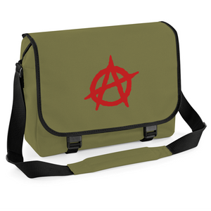 Anarchy Graffiti Messenger Bag, Cycling Courier Laptop University College School Bag Satchel