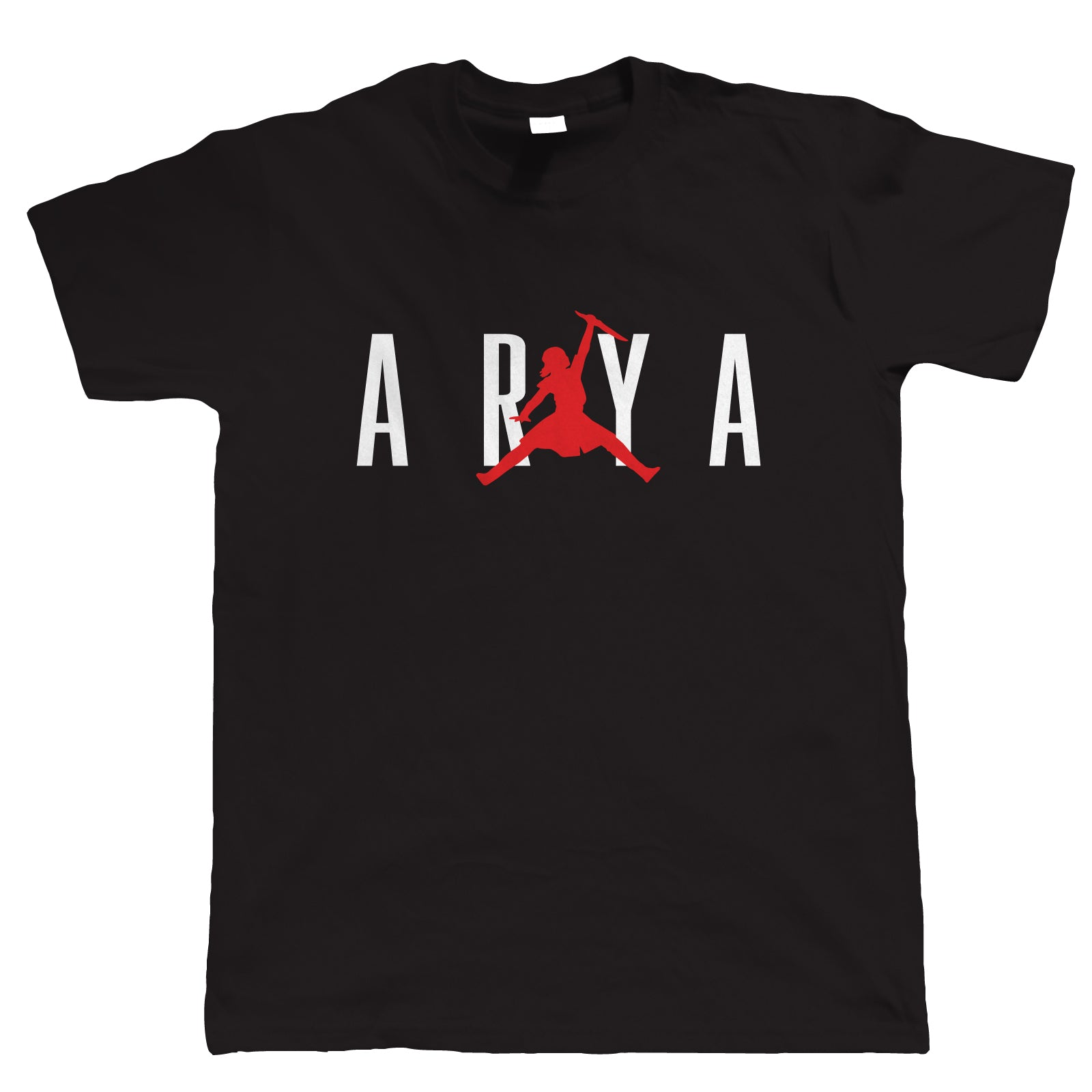 Arya GOT TV Movie Inspired Mens T Shirt | TV Movie Fan Geek Fantasy Fiction Series Strike Move | Christmas Birthday Present Gift Him Dad