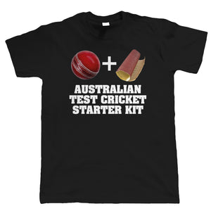 Australian Test Cricket Starter Kit, Mens Funny T-Shirt