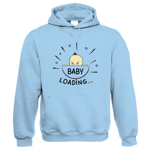 Baby Loading, Mother to Be Womens Funny Hoodie | Funny Novelty Perfect Gift Present For Mum Mom Mama Ladies | Mothers Day Birthday Christmas from Daughter Son Grandson