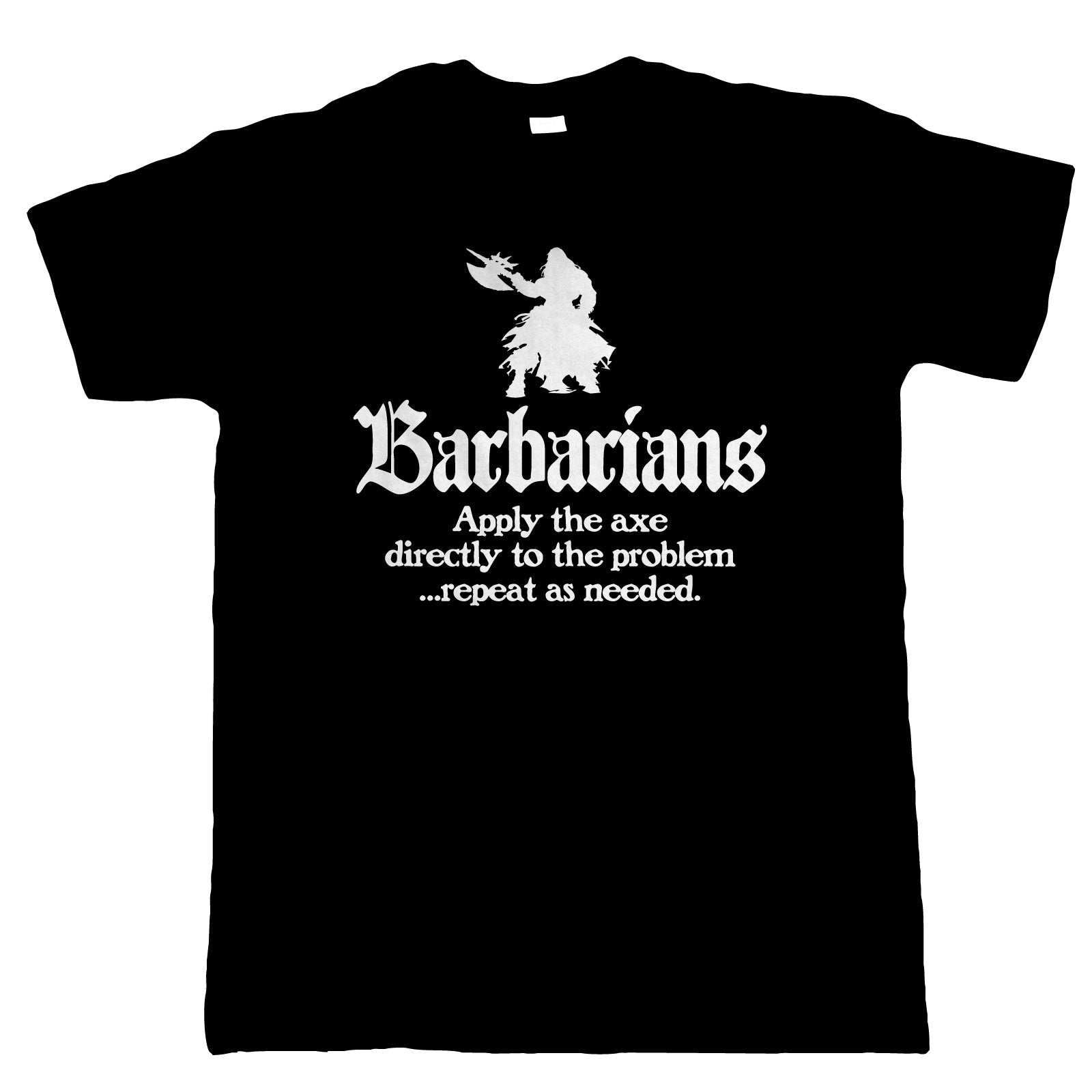 Barbarians Mens T-Shirt | Dungeons Dragon D&D DND Pathfinder 3.5 Tarrasque | Absalom City Cheliax Tiefling Star God Dice Abadar | Geek Gift Him Dad