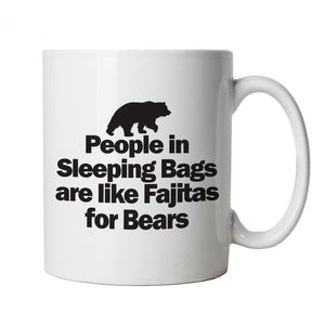 Bear Fajitas Fuuny Mug | Fajitas Pizza Tacos Pasta Burrito Churro Chicken | Bear Tiger Crocodile Lion Wolf Alligator Leopard | Animal Food Joke Cup Gift