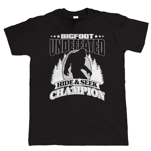 Bigfoot Hide & Seek Champion, Mens Funny T Shirt