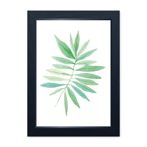 Watercolour Leaf 1, Quality Framed Print - Bathroom Ensuite Family Home Spa