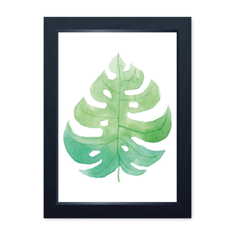 Watercolour Leaf 2, Quality Framed Print - Bathroom Ensuite Family Home Spa