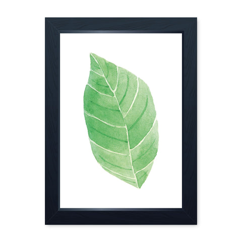 Watercolour Leaf 3, Quality Framed Print - Bathroom Ensuite Family Home Spa
