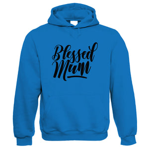 Blessed Mum Hoodie | Mothers Day Best Mum Top Parent Family Mumlife Heart Arrow Love Blessings Count Happy | Birthday Christmas Gift Present Her Wife Mother Partner Fiance Sister