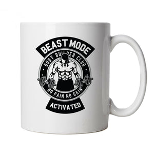 Body Builder Club Beast Mode, Mug