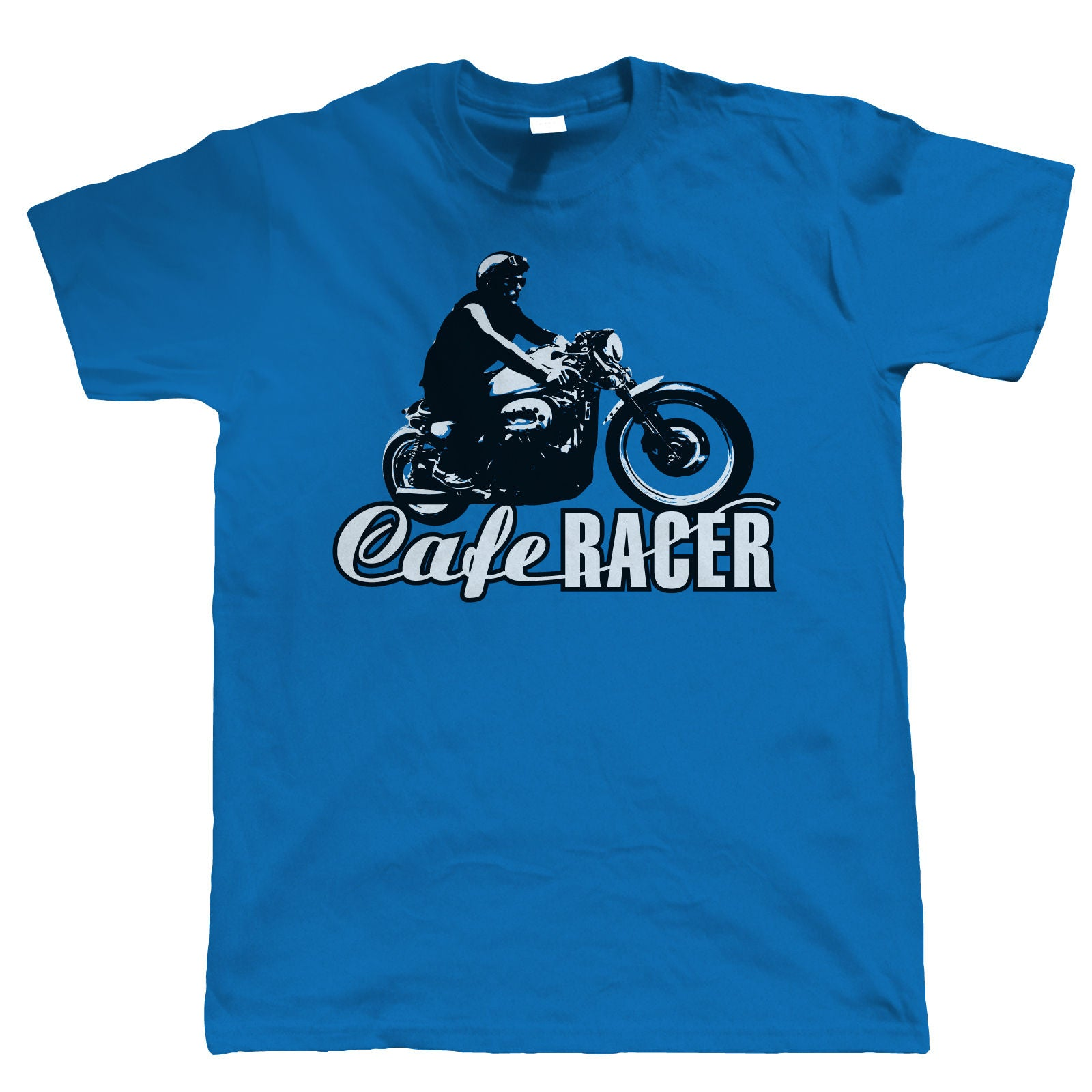Cafe Racer Mens Vintage Biker T Shirt | Motorbike Racing Enthusiast 50's 60's British Motorcycle Club Chopper Cafe Racer Superbike Gentleman Biker | Cool Birthday Christmas Gift Him Dad Husband Son
