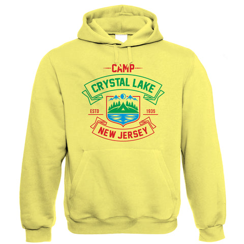 Camp Crystal Lake Horror Movie Hoodie | Texas Elm Friday Nightmare Halloween 13th Street | Timeless Retro Vintage Iconic Seminal Memorable | TV & Movie Gift Him Her Birthday