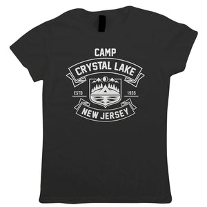 Camp Crystal Lake Womens Horror Movie T-Shirt | Texas Elm Friday Nightmare Halloween 13th Street | Timeless Retro Vintage Iconic Seminal Memorable | TV & Movie Gift Her Mum