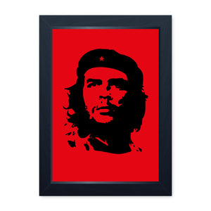 Che Guevara Retro Quality Framed Print - Home Decor Kitchen Bathroom Man Cave Wall Art