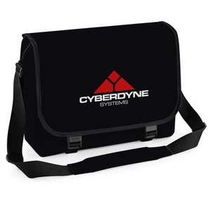 Cyberdyne Sci-Fi Movie Inspired Messenger Bag, Cycling Courier Laptop College School Bag Satchel