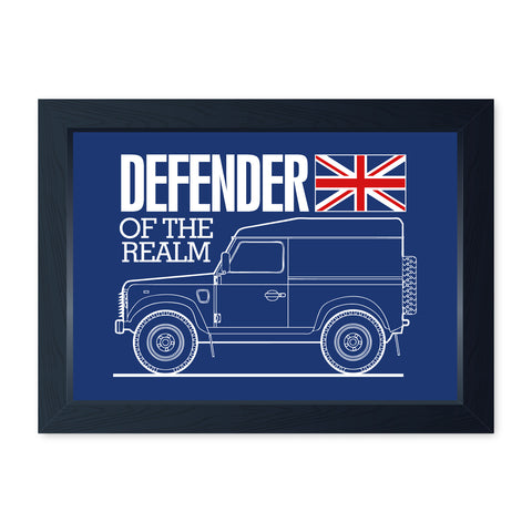 Defender Of The Realm Quality Framed Off Road Print, Man Cave, Poster Art