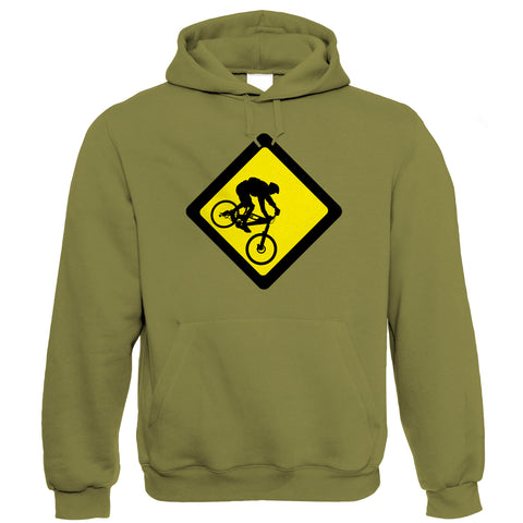 Downhill Mens Mountain Bike Hoodie