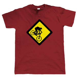 Downhill, Mens Mountain Bike T-Shirt