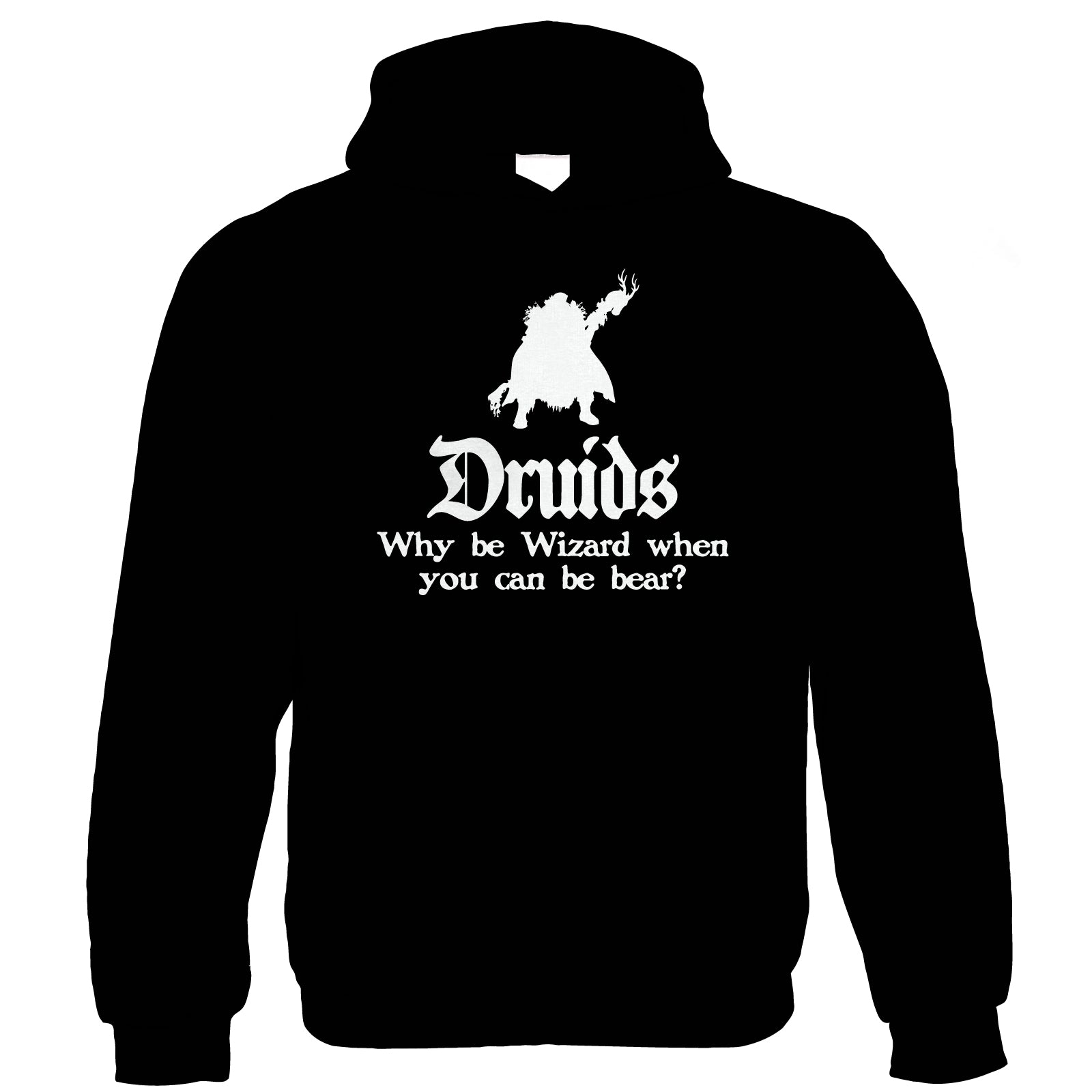 Druids Hoodie | Crimson Throne Polyhedral D20 Fifth 5th Edition | Role Play Fantasy Pen Paper Games Bag Of Holding | Geek Gift Him Her Birthday
