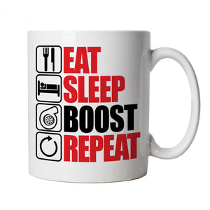 Eat Sleep Boost Repeat, Car Mug