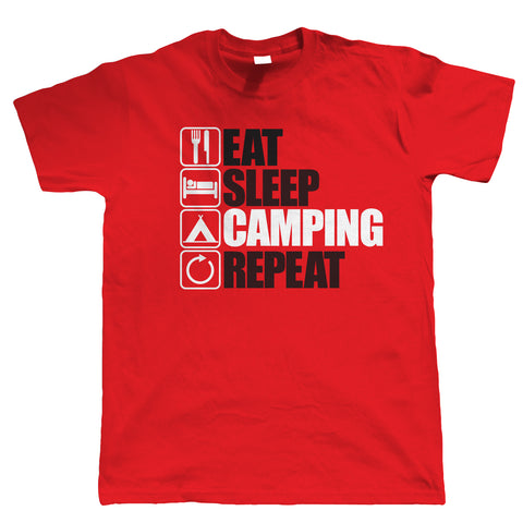 Eat Sleep Camping Repeat, Mens Funny, Outdoors T Shirt