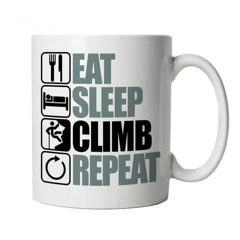 Eat Sleep Climb Repeat, Mountain Climbing Mug