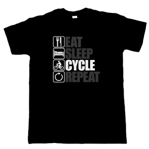Eat Sleep Cycle Repeat, Mens Cycling T Shirt