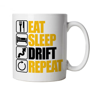 Eat Sleep Drift Repeat, Drifting Mug