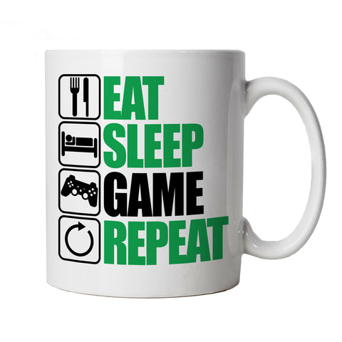 Eat Sleep Game Repeat, Gaming Mug