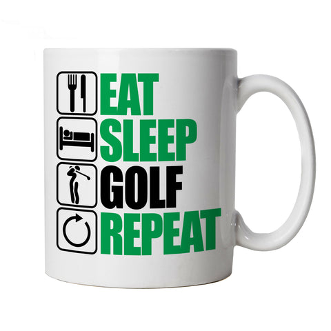 Eat Sleep Golf Repeat, Mug