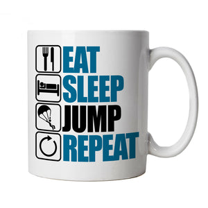 Eat Sleep Jump Repeat, Parachute Mug