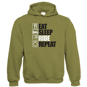 Eat Sleep Ride Repeat Mountain Bike Hoodie