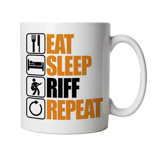 Eat Sleep Riff Repeat, Guitar Mug