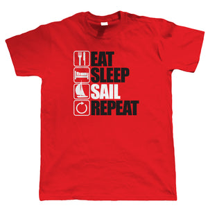 Eat Sleep Sail Repeat T Shirt